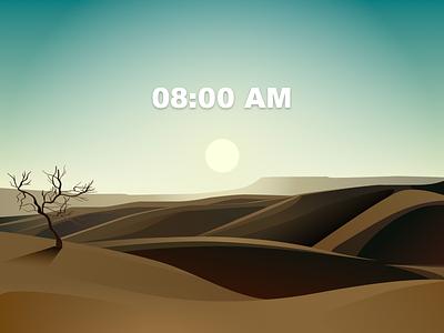Western 8:00AM landscape 海报 插图 设计