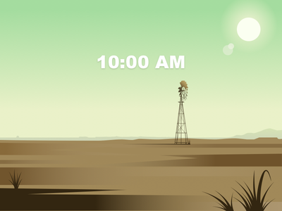 Western 10:00AM landscape 海报 插图 设计