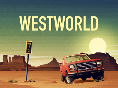 Westworld wallpapers 设计 海报 插图
