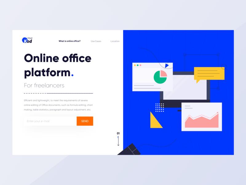 Personal cloud office platform webdesign ux 卷筒纸 应用 品牌 向量 动画 ae 设计 插图 ui