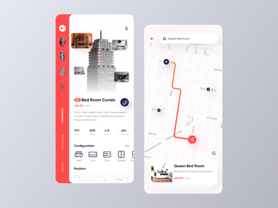 Rental project 2 navigation map home free dribbble creative business app 品牌 卷筒纸 ui