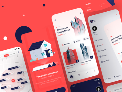 Collection of rental projects mobile ui mobile design 图标 应用 向量 动画 品牌 设计 ui