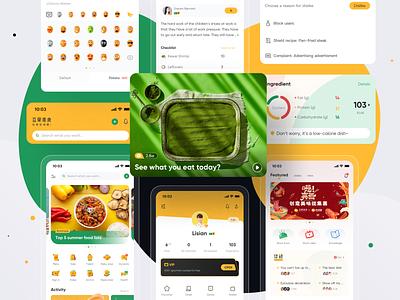 Gourmet project collection vector gourmet branding mobile ui design 图标 应用 品牌 设计 ui