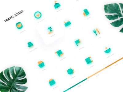 Travel item icon design design vector logo illustration mobile ui 卷筒纸 插图 动画 设计 ui