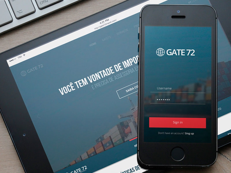 Website Gate72 responsive mobile gate72 webapp trade website ui interface