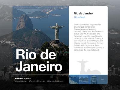 Location Widget | Rio de Janeiro card brazil rebound psd freebie widget location rio de janeiro