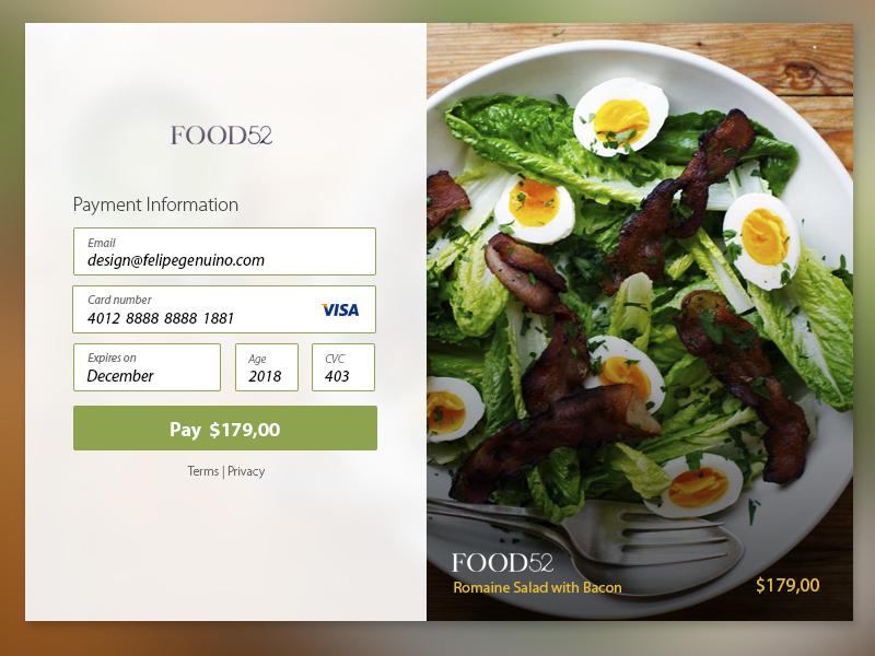 Credit Card Checkout #dailyui #002 checkout credit card ui 002 dailyui
