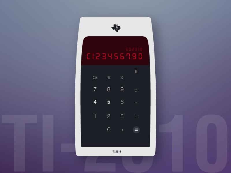 Vintage calculator Ti 2510 freebie calculator 004 dailyui