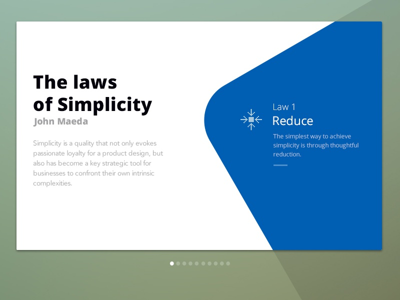 The Laws  Of Simplicity reduce laws of simplicity material design card