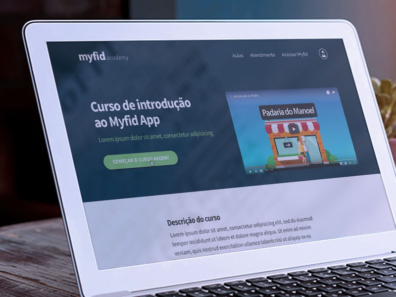 UI and Frondend - App Myfid | Academy myfid interface design prototype marvelapp web webapp learn ui