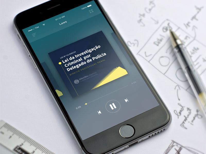 Direito objetivo App player direito objetivo law laws audio prototype