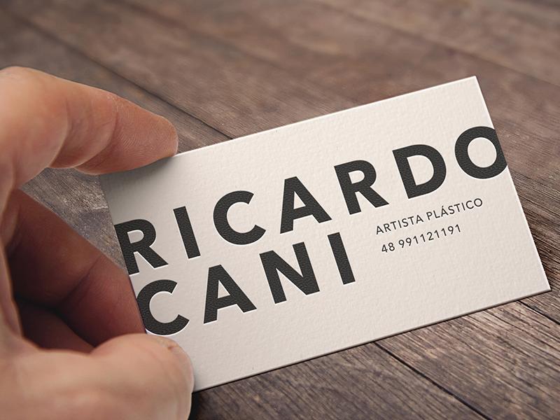 Ricardo Cani artista plástico ricardo cani business card