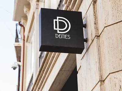 Deities Fashion Logo Mockup