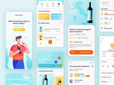𝑾𝒊𝒏𝒆 𝒑𝒍𝒂𝒕𝒇𝒐𝒓𝒎 𝒂𝒑𝒑 illustration icon app ux design ui