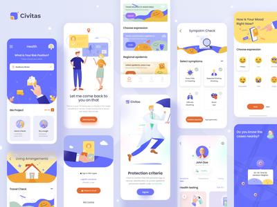 Civitas project app design icon illustration ui