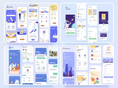 2020 illustration interface branding mobile icon illustration design ui