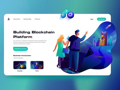 Blockchain Operation illustration app design