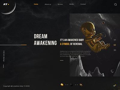 Awakening moment - life Awakening c4d design ui