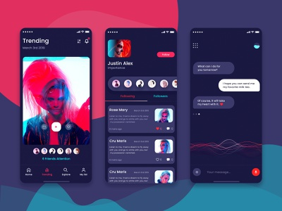 NetRed Video Communication App icon app design ui