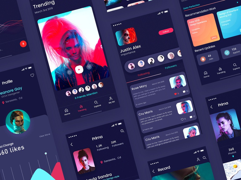 NetRed Video Communication App 04 app ux ui