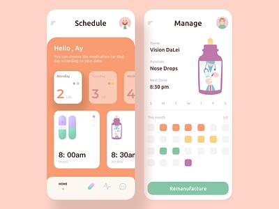 Pharmaceutical Tablets design illustration app ui