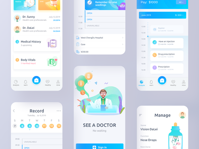Intelligent Medicine App icon illustration app ui