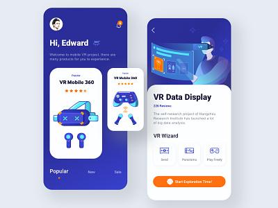 Mobile VR project 01 illustration icon app ux ui