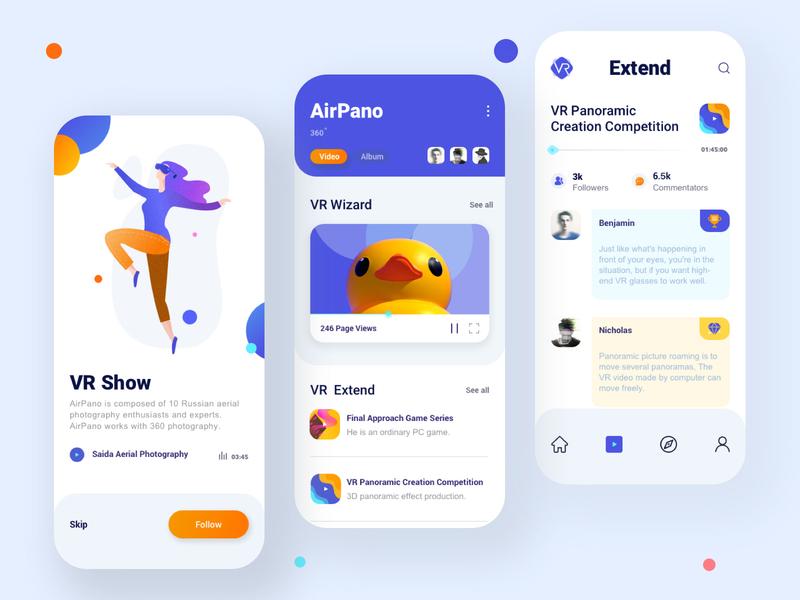 Mobile VR project 02 illustration app design ui