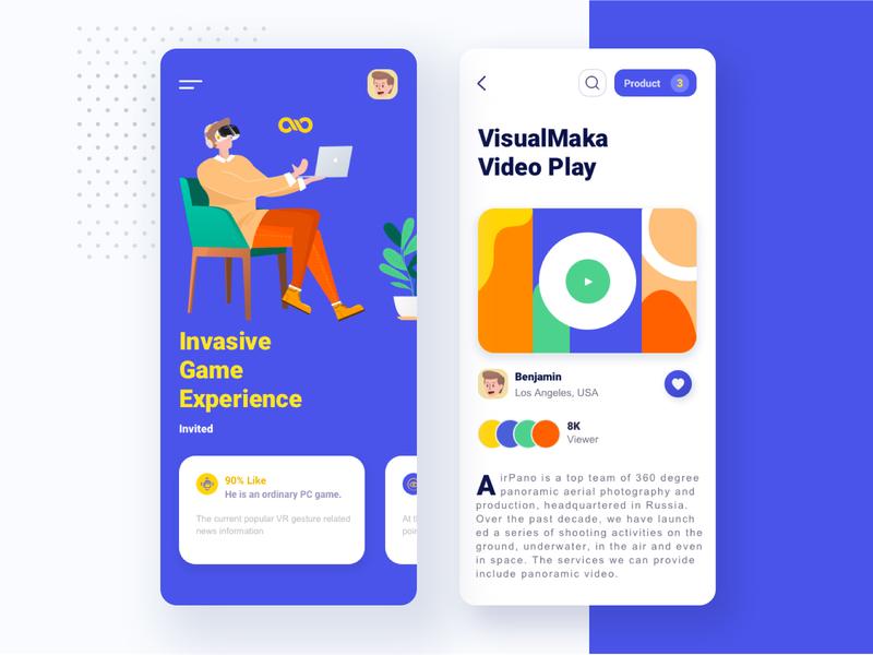Mobile VR project 03 logo icon app design ui