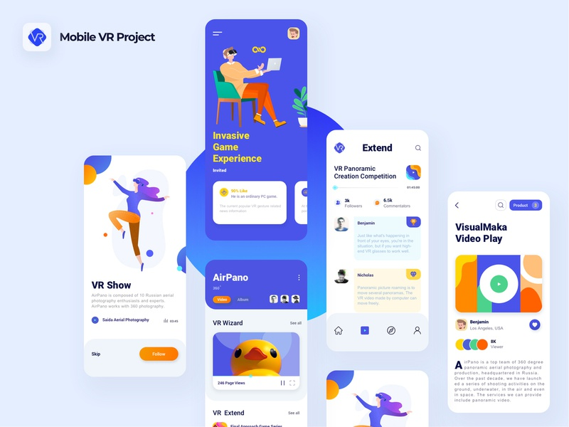 Mobile VR project 04 illustration icon app ui