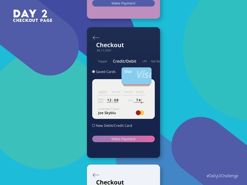 Card Checkout page