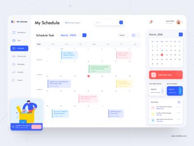 Freelancer Schedule Dashboard - Workhubs