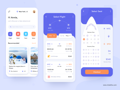 Flight Booking - App Concept product design schedule adventure colors app design food taxi managment dashboad booking flight booking train hotel app illustration web website travel boarding pass flight