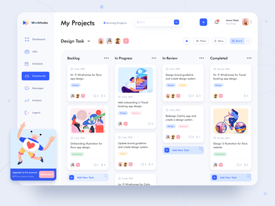 Task Schedule dashboard abstract payment freelancer dark ecommerce design system onboarding managment hire product design job schedule event task illustration logo dashboad web website app