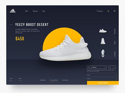 Adidas Original- Web Concept identity flat ux  ui adidas originals casual shoes sports design vector webdesign typography sneaker yellow ux branding minimal ui website web adidas shoes