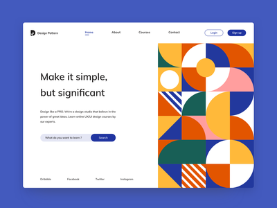 Design pattern website learning logo signup login geometry art texture pattern abstract abstract design abstract art vector web webdesign illustration icon design branding ux ui