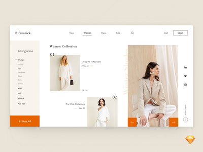 Be Younick Web Design business cart shopping clothing interaction landingpage branding fashion ecommerce minimal uxdesign clean flat webdesign typography design web website ux ui