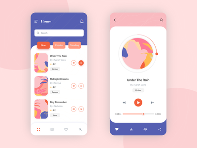 Book App Concept card cart clean mobile uidesign uxdesign booking music art abstract art abstract minimal novels reading book app design app design ux ui