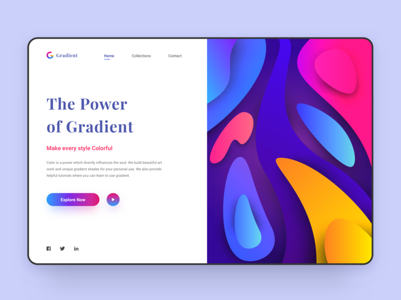 Gradient Web Concept abstract art dashboard typogaphy landingpage artwork webdesign web color gradient abstract art illustration clean logo app minimal website design ui ux