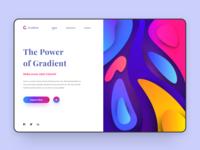 Gradient Web Concept
