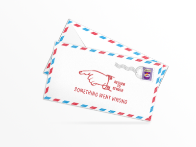 Email verifcation fail envelope error fail