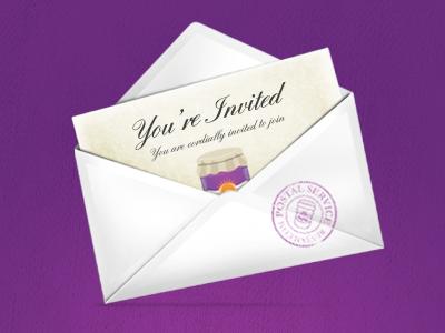 Invitation envelope invitation