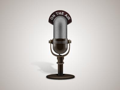 Vintage mic icon mic vintage microphone