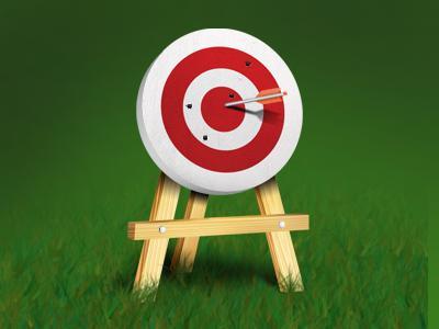 Bullseye bullseye arrow target