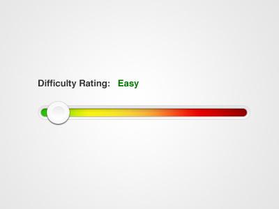 Slider concept slider difficulty rating