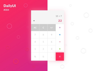 Daily UI :: 004 - Calculator