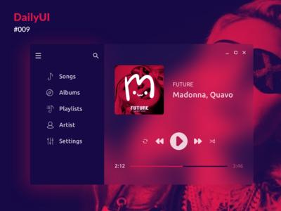 Daily UI :: 009 - Music Player