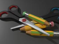 Scissors & Pencils