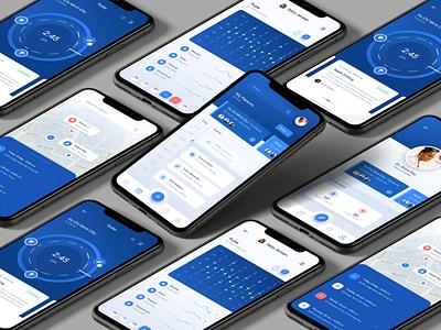 Docteur - Health on Demand Mobile App agency product healthcare health illustration ui ux design app