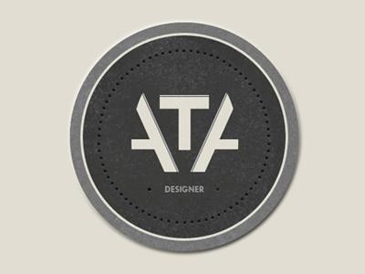Personal Logo logo tva personal design stamp badge sign texture typography portfolio